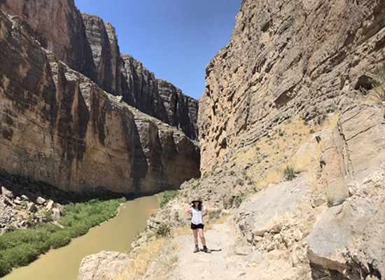 Talia in Big Bend near the border.